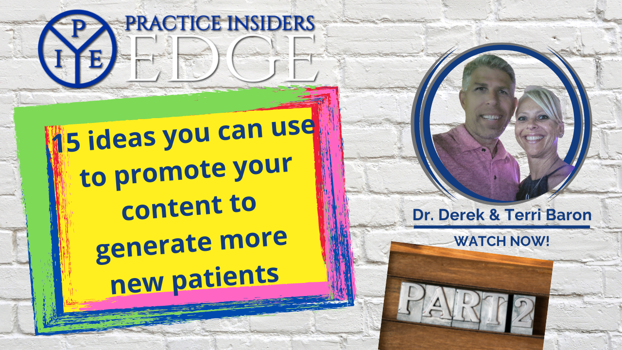 [Video Part 2] 15 ideas to promote your content for New Patients