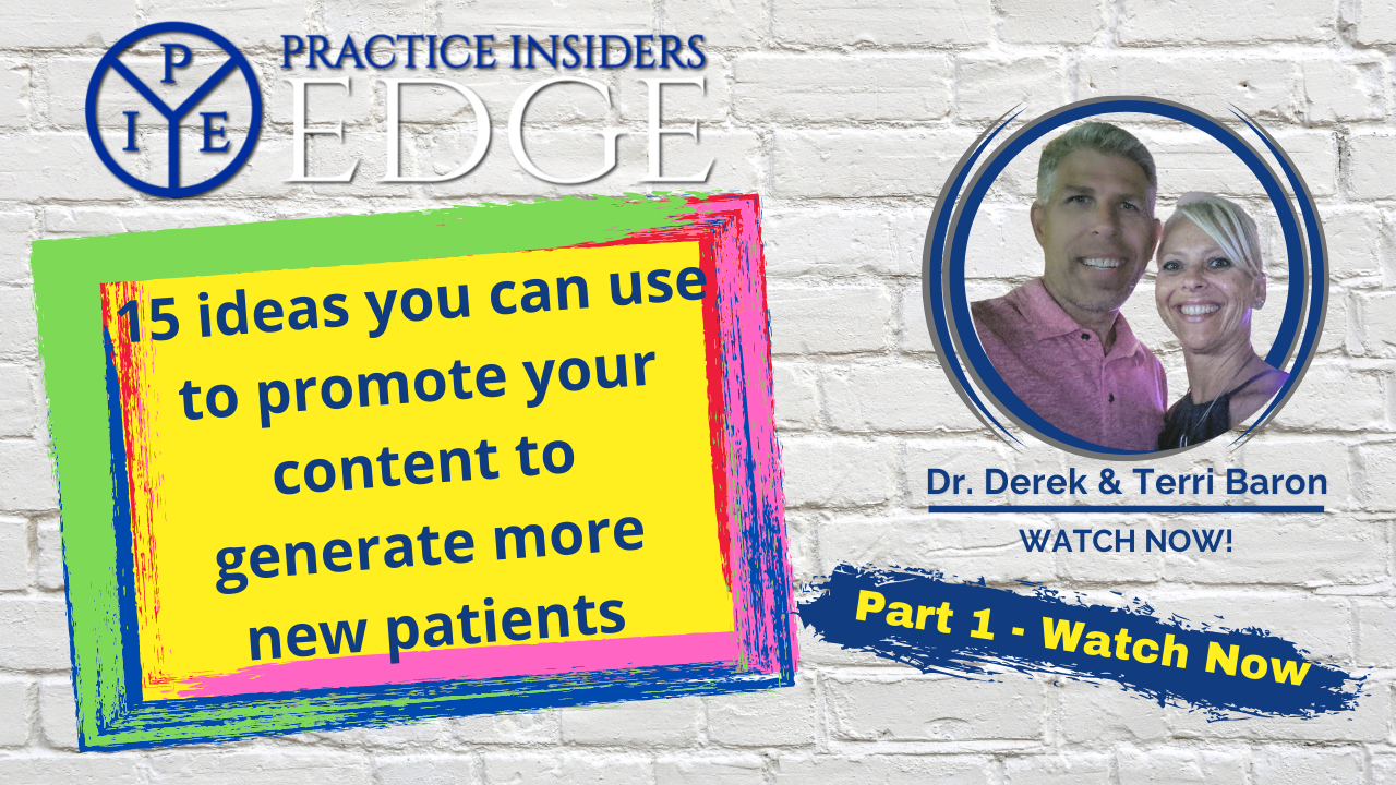 [Video Part 1] 15 ideas to promote your content for New Patients